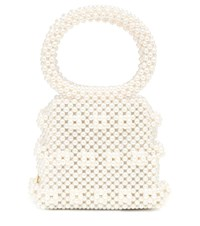 Shrimps Dante Small Beaded Tote Neutrals