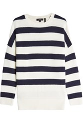 Theory Striped Cashmere Pullover