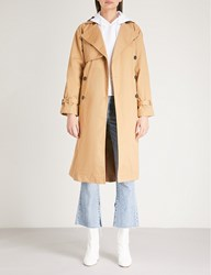 Moandco. Double Breasted Cotton Twill Trench Coat Prairie Sand