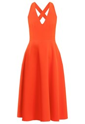 Warehouse Cocktail Dress Party Dress Orange