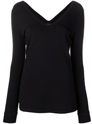 Majestic Filatures Deep V Top Black