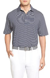 Bobby Jones Men's Liquid Cotton Fine Stripe Polo Summer Navy