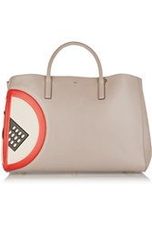Anya Hindmarch Ebury Maxi No Mobile Leather Tote Light Gray