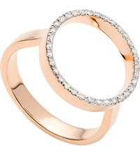 Monica Vinader Naida Circle Open 18Ct Yellow Gold Vermeil And Diamond Ring