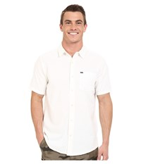Hurley One And Only 2.0 S S Woven Summit White Men's Short Sleeve Button Up Red