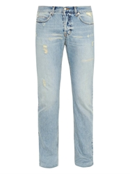 Mcq By Alexander Mcqueen Distressed Slim Straight Leg Jeans
