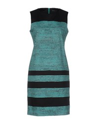 New York Industrie Short Dresses Turquoise