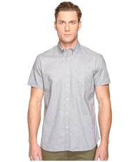 Billy Reid Short Sleeve Tuscumbia Button Down Shirt Grey Men's Clothing Gray