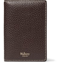 Mulberry Full Grain Leather Bifold Cardholder Dark Brown