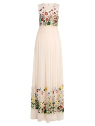 Andrew Gn Floral Embroidered Tulle Gown Light Pink