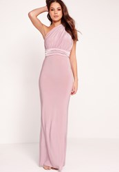 Missguided Slinky Multiway Maxi Dress Lilac Mauve