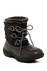 London Fog Ledbury Faux Shearling Lace Up Cold Weather Boot Multi