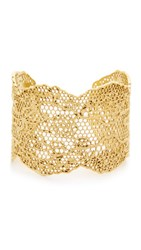 Aurelie Bidermann Laser Cut Vintage Lace Cuff Gold