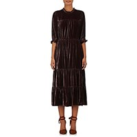 Ulla Johnson Women's Paulina Velvet Dress Red