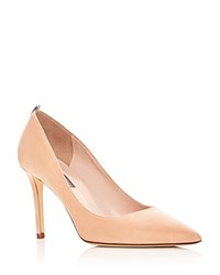 Sarah Jessica Parker Sjp By Women's Fawn Suede Pointed Toe Pumps 100 Exclusive Signature Nude