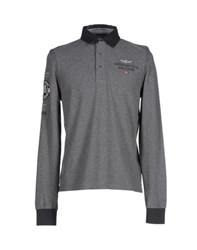 Aeronautica Militare Topwear Polo Shirts Men Grey