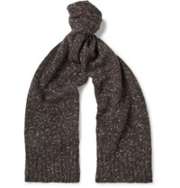 Anderson And Sheppard Donegal Virgin Wool Cashmere Blend Scarf Brown