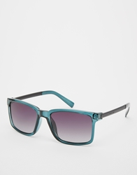 French Connection Wayfarer Sunglasses Blue