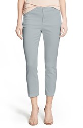Petite Women's Nydj 'Corynna' Cotton Sateen Slim Ankle Pants Silver Smoke
