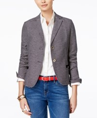 Tommy Hilfiger Striped Blazer Navy Ivory