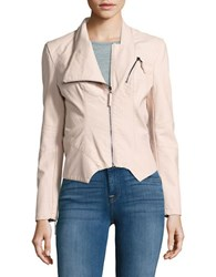 Blank Nyc Zip Front Faux Leather Moto Jacket Pretty In Pink