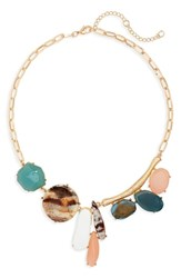 Cara Dali Variegated Stone Collar Necklace Multi