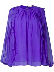 Emilio Pucci Purple Ruffled Long