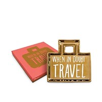 Rosanna When In Doubt Travel Travel Bag Tray Gold