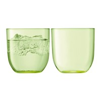 Lsa International Hint Blown Glass Tumbler Set Of 2 Pale Lime