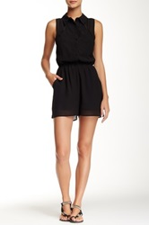 Iris Sleeveless Lace Back Romper Black