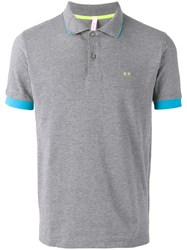 Sun 68 Contrast Polo Shirt Grey