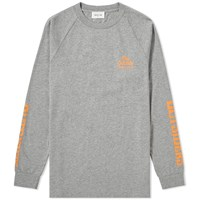 Wood Wood Long Sleeve Han Outsiders Tee Grey