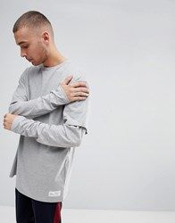 Fairplay Oversized Layered Long Sleeve T Shirt In Grey Grey