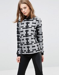 Minimum Tecla Patterned Jumper 2146826246 Black