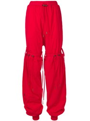 Y Project Drawstring Detail Track Trousers Red