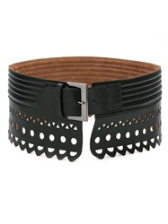 Andrea Bogosian Leather Belt Women Chamois Leather M Black
