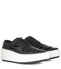 Kenzo Cut Out Leather Sneakers Black