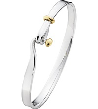 Georg Jensen Torun 18Ct Yellow Gold And Sterling Silver Bangle