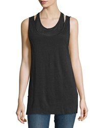 Rag And Bone Rag And Bone Jean Scoop Neck Double Layer Tank Size Large Black