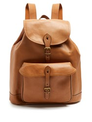 Polo Ralph Lauren Leather Backpack Brown