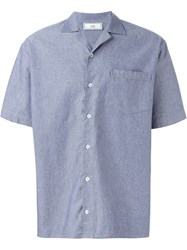 Ami Alexandre Mattiussi Chest Pocket Shirt Blue