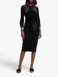 Boden Julianna Velvet Midi Dress Black