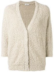 Brunello Cucinelli Tweed Cardigan Nude Neutrals
