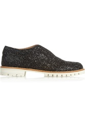 L'f Shoes Gipsy Ilga Glitter Finished Leather Brogues Black