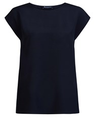 Aquascutum London Camilla Silk Tee Navy