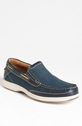 Men's Florsheim 'Lakeside' Slip On Navy Nubuck