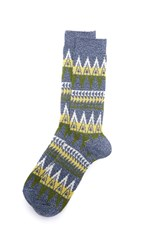 Anonymous Ism Beacon Crew Socks Light Navy
