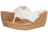 Sbicca Diddy White Wedge Shoes