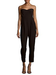 Collective Concepts Solid Strapless Long Jumpsuit Black