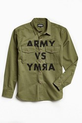 Undefeated Army Print Over Shirt Olive